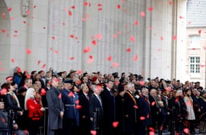 Princess Anne pays a tribute during the Last Post ceremony at the Menin Gate Memorial, Ypres