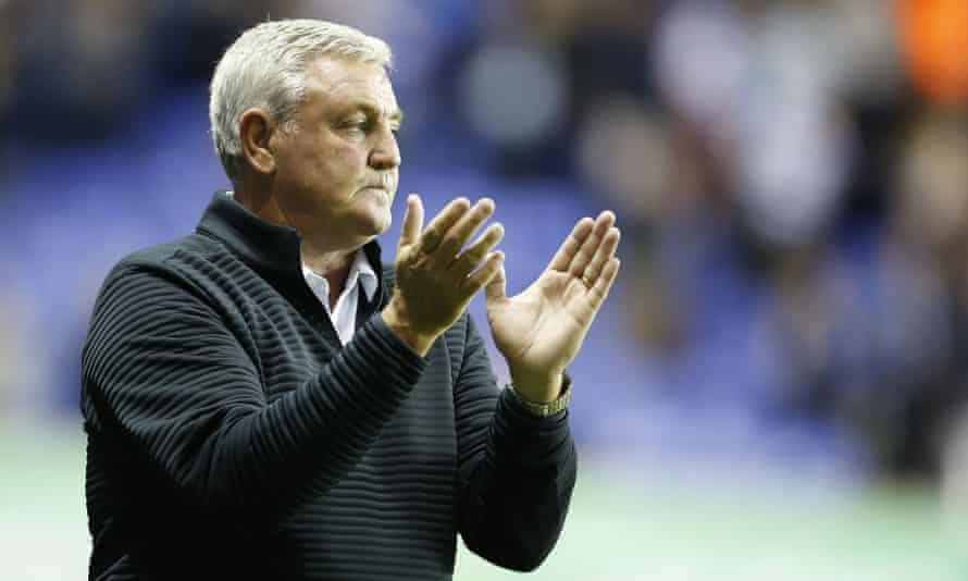 Steve Bruce looks dejected after defeat at Reading extended his Aston Villa side's winless run.