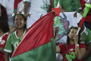 Madagascar fans cheer their team on in Cairo.