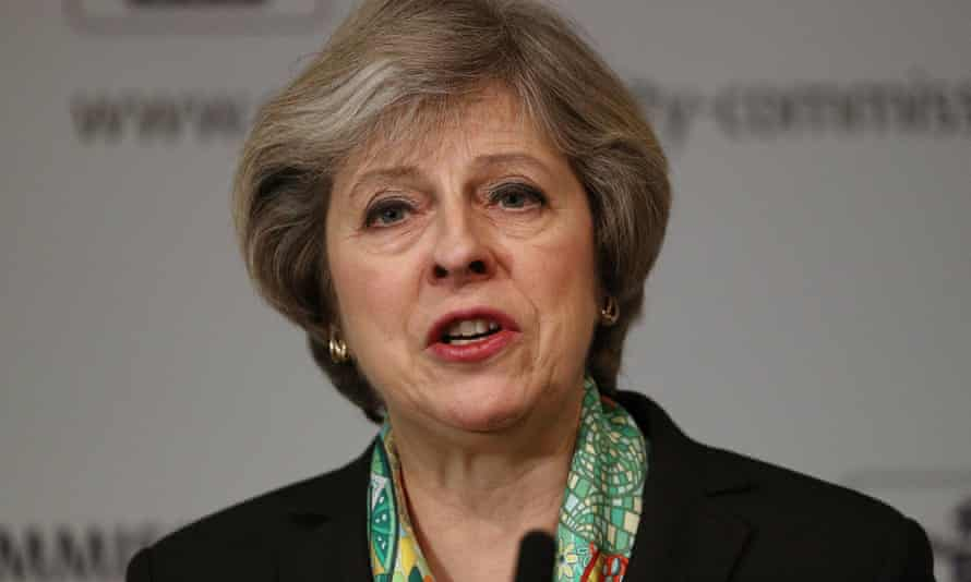 Prime Minister Theresa May speaks to members of the Charity Commision for England and Wales at The Royal Society where she detailed plans to provide greater support for those suffering mental health problems.