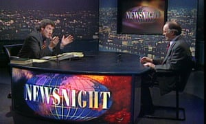 Jeremy Paxman asks Michael Howard the same question 12 times on Newsnight in 1997.