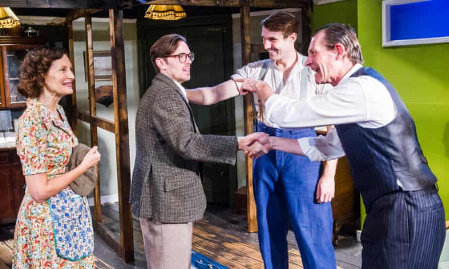 Nesba Crenshaw (Esther), Adam Harley (Arnold), George Turvey (Ben) and David Bromley (Abe) in No Villain by Arthur Miller @ Old Red Lion. Directed by Sean Turner. Dec 2015