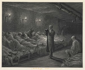 Scripture Reader in a Night Refuge ... Jerrold and Doré visited night refuges, cheap lodging houses and even the opium den described by Charles Dickens in The Mystery of Edwin Drood.