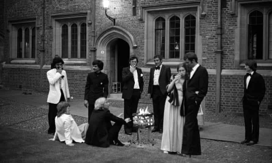 Cambridge University undergraduates at a May ball in 1976.