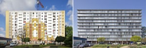 Before and after… the transformation of 530 dwellings at Grand Parc, Bourdeaux.