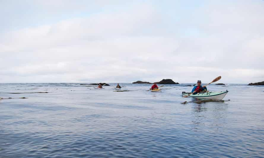 Kayaking on Haida Gwaii's secluded waters of the Pacific.