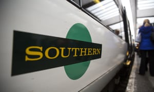 A Southern train at East Croydon station