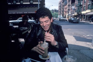 Lou Reed at the Cafe Figaro on Bleecker Street in Greenwich Village.