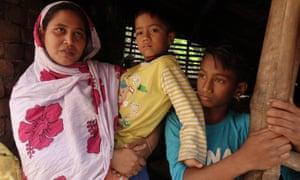 Khayrun Nahar Bibi with her sons.