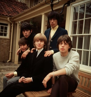 Charlie Watts, Keith Richards, Brian Jones, Bill Wyman and Mick Jagger in 1964