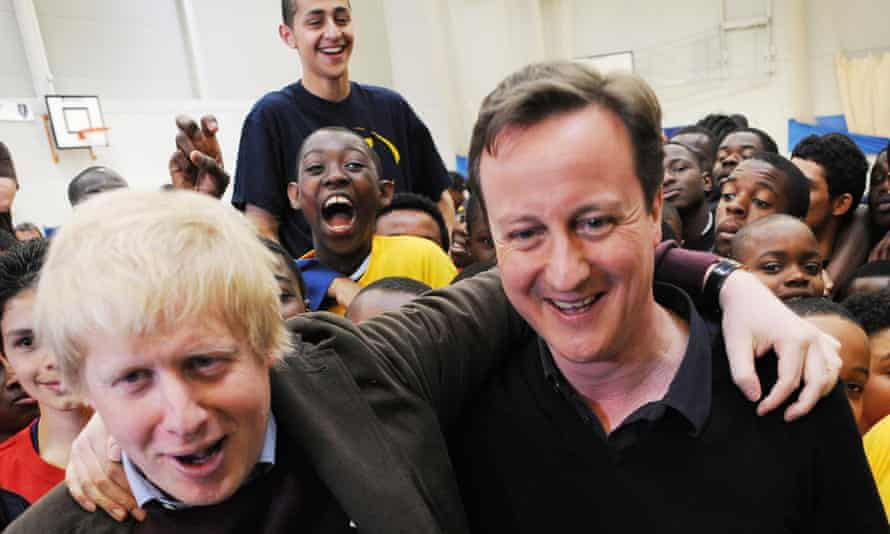 Johnson and Cameron campaigning for the 2010 general election