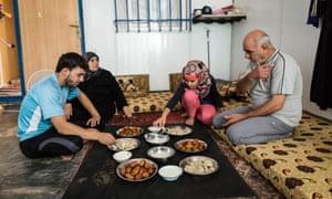 Family meal in Jordan