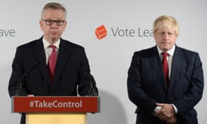 Michael Gove (left) and Boris Johnson