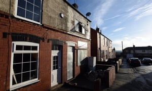 Empty homes in Goldthorpe, South Yorkshire, which are being refurbished by residents.