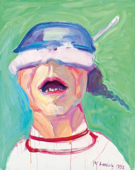 Maria Lassnig's Self Portrait With Saucepan.