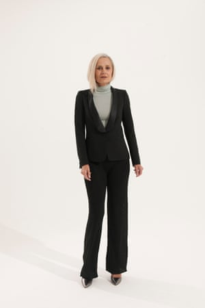 black blazer Zara, grey polo neck, black trousers both H&M, metallic pointed shoes Asos