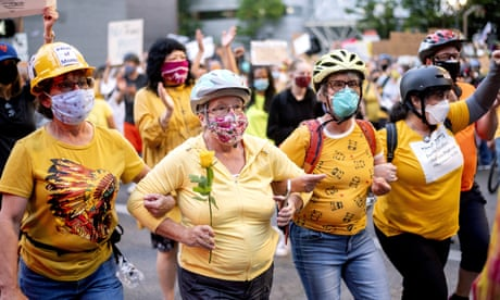 'I wanted to take action': behind the 'Wall of Moms' protecting Portland's protesters