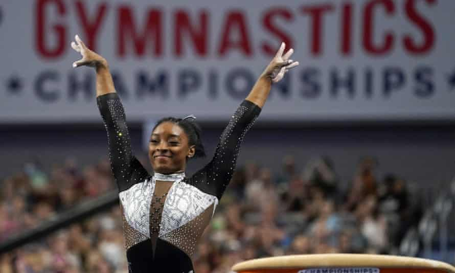Simone Biles at the US Gymnastics Championships in Fort Worth, Texas