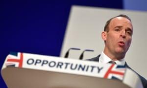Tory leadership hopeful Dominic Raab.
