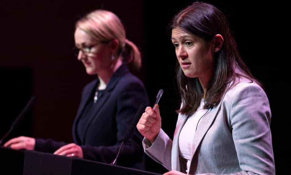 Rebecca Long-Bailey (left) and Lisa Nandy