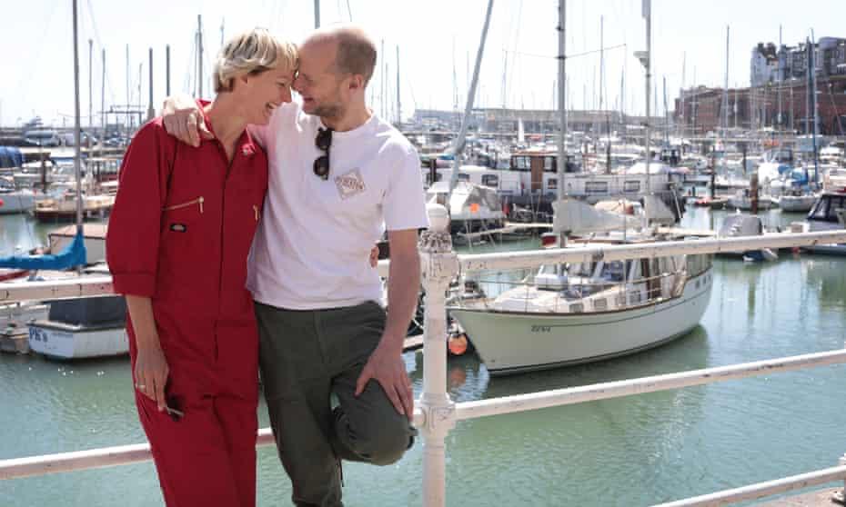 Jen Lewandowski with Tom Gidley.