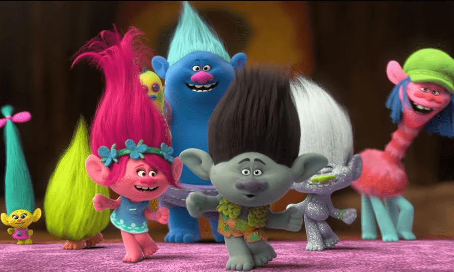 Some of Trolls' setpiece gags are pretty funny, likesuch as the cupcake droppings, or the rapid-fire fist-bump gags from the Cloud Guy … Trolls