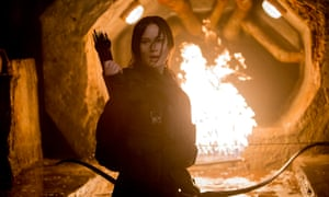 Jennifer Lawrence in part two of The Hunger Games: Mockingjay.