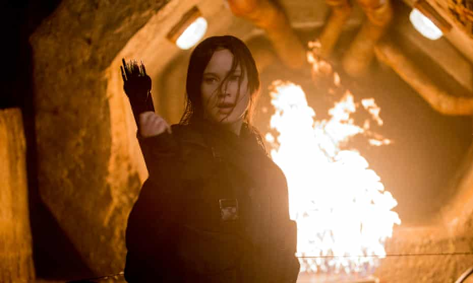 Jennifer Lawrence in The Hunger Games: Mockingjay – Part 2 (2015).