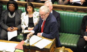 Labour leader Jeremy Corbyn responding after Osborne delivered his budget statement to the House of Commons.