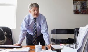 Philip Davies in his constituency office in Shipley.