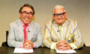 Ronnie Corbett (left) and Ronnie Barker