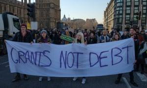 Student maintenance grants protest