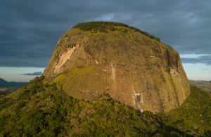 The Western Face of Mount Lico rises 700 meters above the surrounding plain. Mountains that rise alone like this are called inselbergs. Mozambique has hundreds, but so far none are known to be as isolated as Mount Lico.