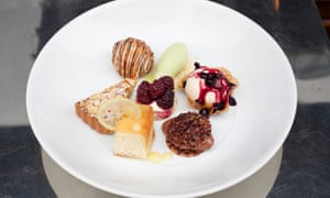 'A bit of almost everything': the mixed desert plate.