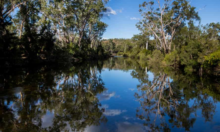 Urannah creek in Queensland, the site of the proposed $2.9bn Urannah dam
