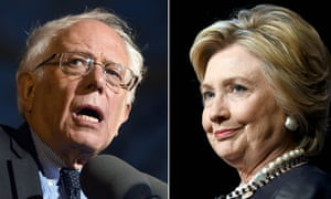 This combination of file photos shows Democratic presidential hopefuls Bernie Sanders(L)on March 31, 2016 and Hillary Clinton on March 30, 2016, US presidential primaries spark back to life April 5, 2016 after an eventful 10-day break. For Clinton, a loss in Wisconsin would be more symbolic than anything else, as the state distributes delegates proportionally according to the primary results. But she comes into the contest having lost five of the last six states to Bernie Sanders, and polls show him finishing on top in Wisconsin. / AFP PHOTO / PHOTO DESKPHOTO DESK/AFP/Getty Images
