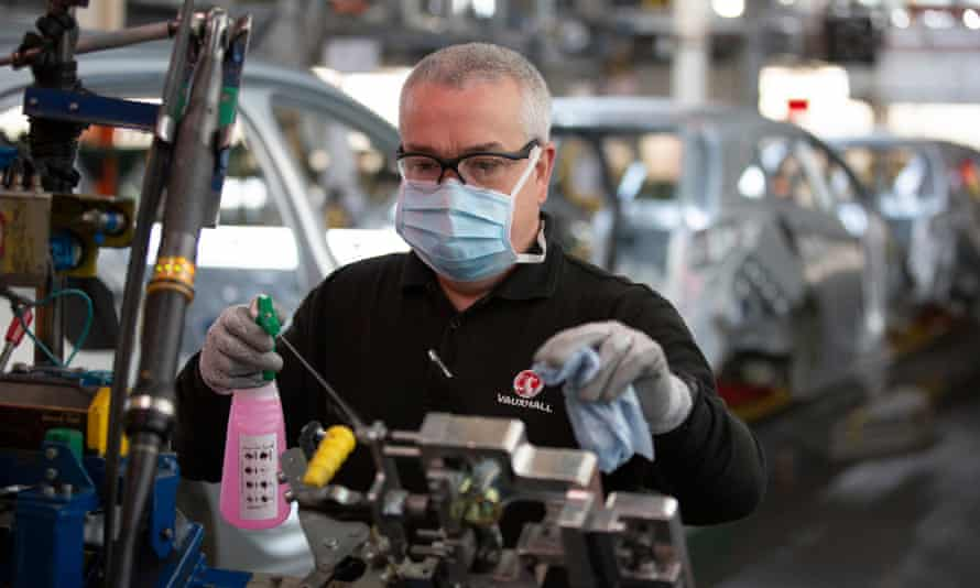 The Vauxhall Car Factory Prepares For Post-COVID Re-opening at Ellesmere Port, Wirral.