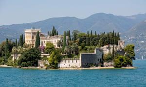 Isola di Garda on Lake Garda, Italy