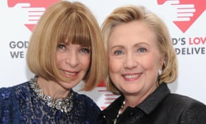 Vogue editor-in-chief Anna Wintour and Hillary Rodham Clinton pose at the 2013 Golden Heart Awards celebration in New York on 16 October 2013.