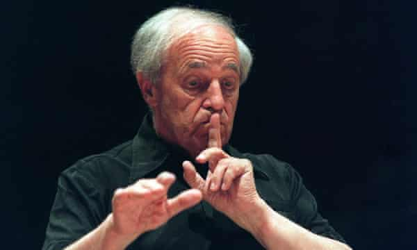 Boulez, photographed in 1999.