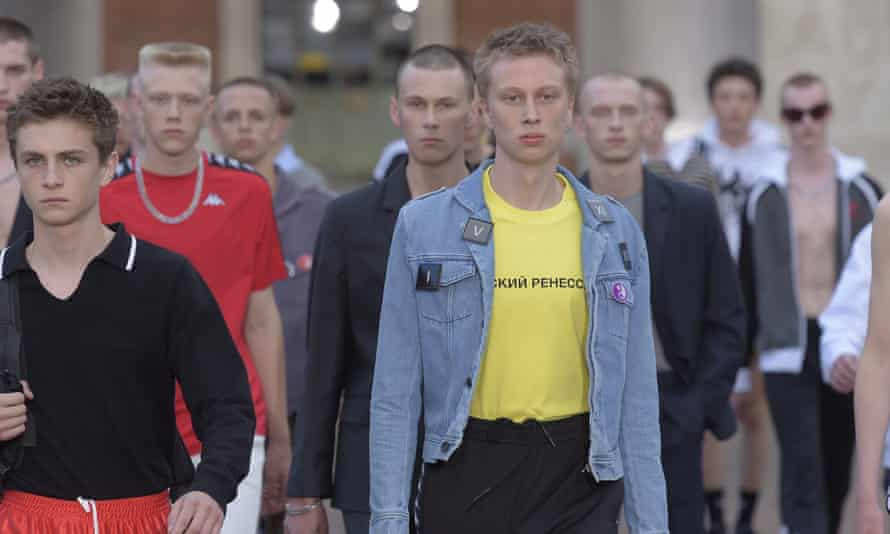Gosha Rubchinskiy's spring/summer 2017 collection at Florence's Pitti Immagine Uomo.