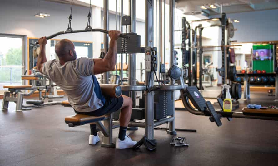 A member works out at a David Lloyd gym