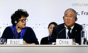 Brazil's Izabella Teixeira and China's Xie Zhenhua