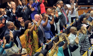 MPs in the South African parliament