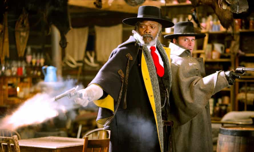 Bloated narrative … Samuel L Jackson and Walton Goggins in The Hateful Eight.