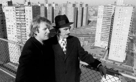 Donald Trump with his father Fred in Brooklyn, 1975