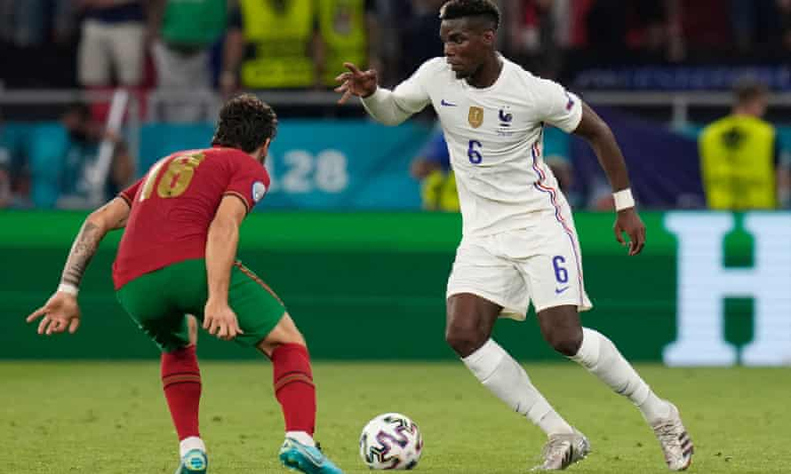 Paul Pogba had a pass completion rate of 98% in an incisive performance in France's 2-2 draw with Portugal.