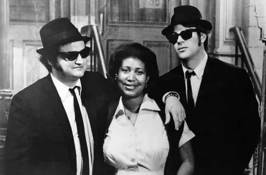 John Belushi, Aretha Franklin and Dan Aykroyd in The Blues Brothers.