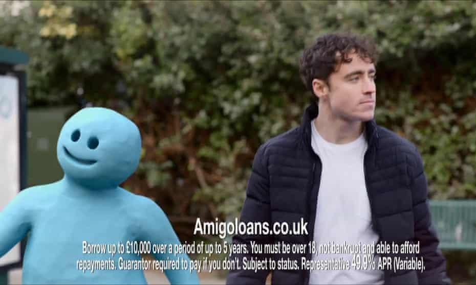 A 2019 Amigo loans advert.