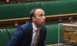 Matt Hancock faced MPs in the Commons